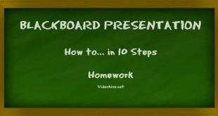 Blackboard Presentation Image Preview