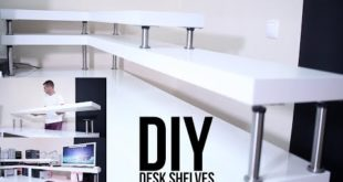 DIY DESK SHELVES | ON A BUDGET !!!