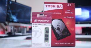 TRANSCEND M 2 SSD & TOSHIBA P300 SPEED TEST