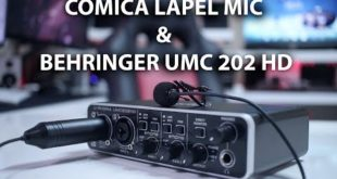 AUDIO FOR YOUTUBE | COMICA V02 LAPEL & BEHRINGER UMC 202 HD | Audio Interface
